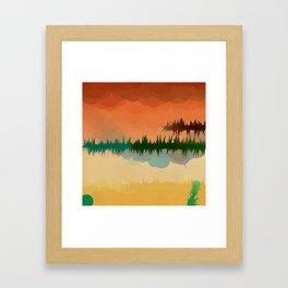 "Digital Abstract Landscape ""Minnesota Memories"" Framed Art Print"