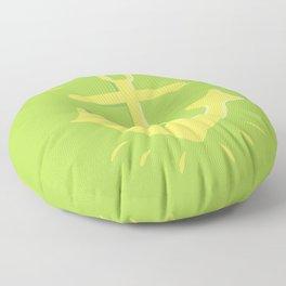 Anchor of the Green Sea Floor Pillow