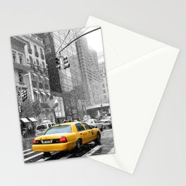 New York City 5th Avenue Yellow Cabs Stationery Cards