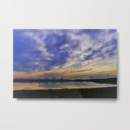 The Docks (Digital Art) Metal Print
