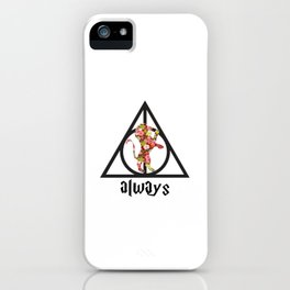 Always - Red Floral iPhone Case
