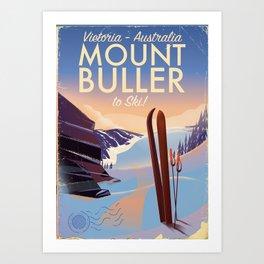 Mount Buller Australia Ski resort Art Print