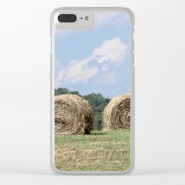 Hay Bales on The Farm Photography Clear iPhone Case