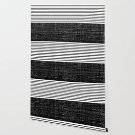 platno (black stripes) Wallpaper