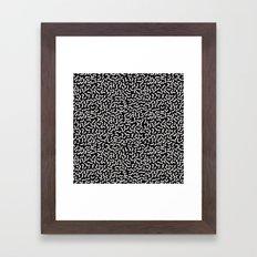 Memphis pattern 4 Framed Art Print