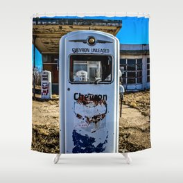 Abandoned Gas Station Shower Curtain