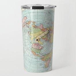 Alex Gleason's New Standard Map Of The World Flat Earth Travel Mug