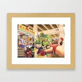Captain A: Civil Wok Framed Art Print