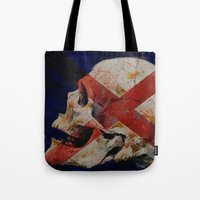 dragon age inquisition Tote Bags featuring Inquisition by Michael Creese