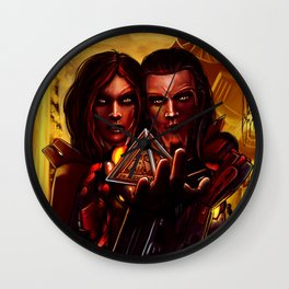 SWTOR - Sith twins selfie Wall Clock