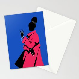 Pink Coat Stationery Cards