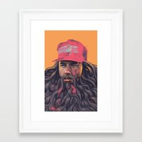 forrest gump Framed Art Prints featuring Forrest Gump by David Belliveau