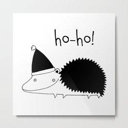 Fun Scandinavian Christmas art for techies Metal Print