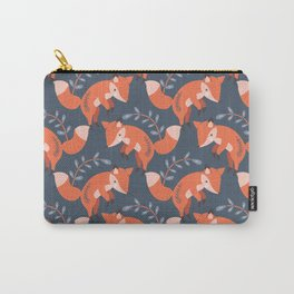 Red Autumn Pouncing Fox Carry-All Pouch