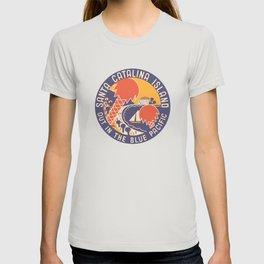 Santa Catalina Island - Vintage Luggage Label T-shirt