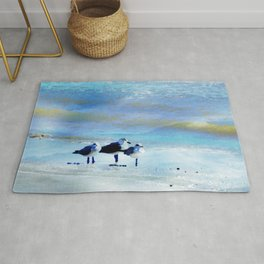 Galveston Seagulls Rug