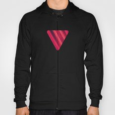 Modern Red / Black Stripe Abstract Stream Lines Texture Design (Symmetric edition) Hoody