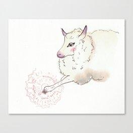Wise Sheep Canvas Print