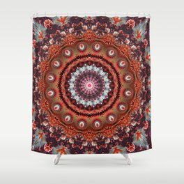 Resplendent Fractal Mandala Shower Curtain