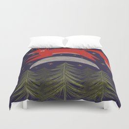 The Fox Jumped Over the Moon Duvet Cover