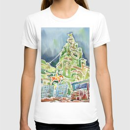 Watercolour of Liverpool T-shirt