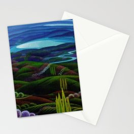 The Primeval Forest landscape painting by Gerardo Dottori Stationery Cards