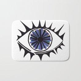 Blue Eye Warding Off Evil Bath Mat