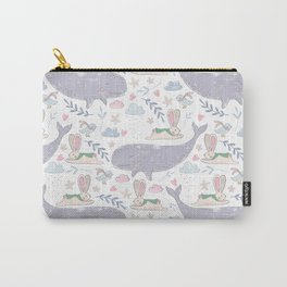Whales and Bunnies Carry-All Pouch