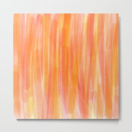 Sunset Red Orange and Yellow Watercolor Metal Print