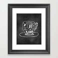Cup Full Of Love Chalkboard Framed Art Print