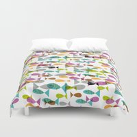 fishing Duvet Covers featuring Fishing by Mofa Barcelona