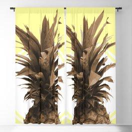 Pineapple Print - Tropical Poster - Botanical Print - Pineapple Wall Art - Yellow, Golden - Minimal Blackout Curtain