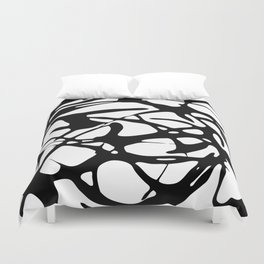 Black and White Abstract Painting II Duvet Cover
