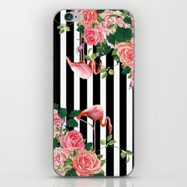 tropical flamingo iPhone Skin