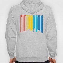 Retro 1970's Style Pittsburgh Pennsylvania Skyline Hoody