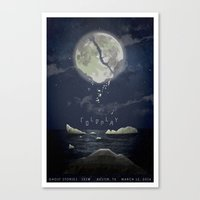 "coldplay Canvas Prints featuring Coldplay ""Magic"" conceptual poster by Madz Designs"