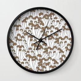 Beech Mushrooms Wall Clock