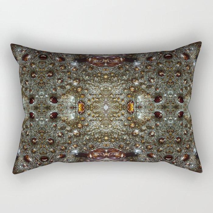 Abstract brown, dark gray texture pattern Rectangular Pillow