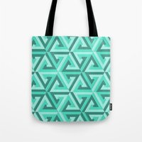 lv Tote Bags featuring Geometrix LV by Harvey Warwick
