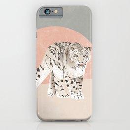 Snow Leopard Pink Grey iPhone Case