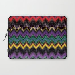 Zigzag Stripe Ethnic Face Laptop Sleeve