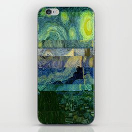 Starry Night Glitch iPhone Skin