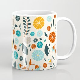 Colorful Spring Flowers Pattern Coffee Mug