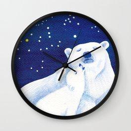 Polar bears, arctic animals Wall Clock