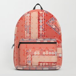 Multicolor Abstract Geometric Design Backpack