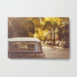 Autumn streets Metal Print