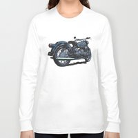 bmw Long Sleeve T-shirts featuring BMW R50 MOTORCYCLE by Ernie Young