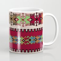 kilim Mugs featuring Kilim pattern 026 by Ranka Stevic