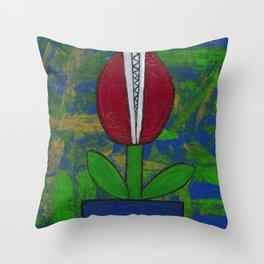 Bitey Blossom Throw Pillow