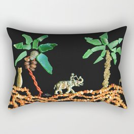 Safari Elephant Jewelry, Scanography Rectangular Pillow